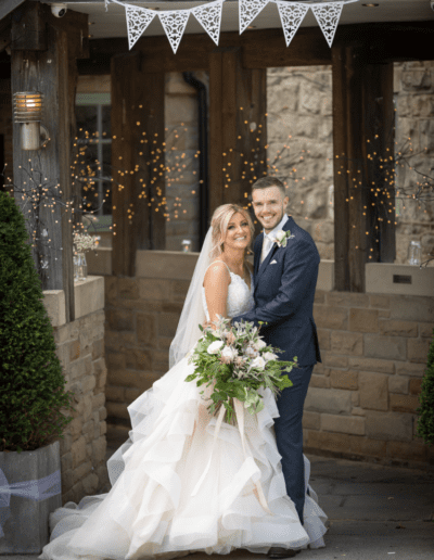 Beautiful real bride in Allure wedding dress